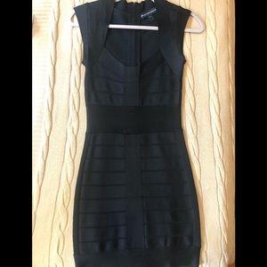 French Connection black bondage dress size 2